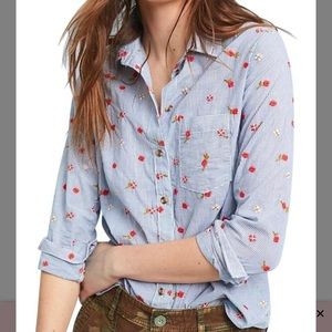 NWT! ANTHROPOLOGIE Maeve Agda Button Up Floral Top